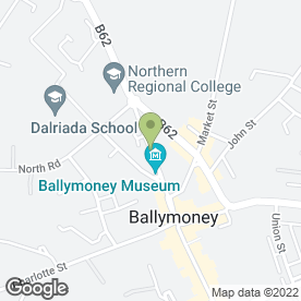 Map of High Street Dental Practice in Ballymoney, county antrim