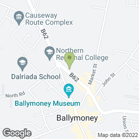Map of Papillon Beauty, Skincare & Relaxation in Ballymoney, county antrim