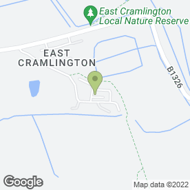 Map of Earth Moving Ltd in Cramlington, northumberland