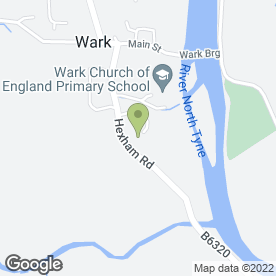 Map of Humshaugh & Wark Medical Group in Wark, Hexham, northumberland