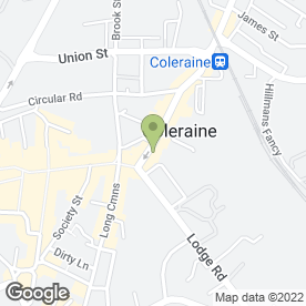 Map of McLaughlin Home Bakery in Coleraine, county londonderry