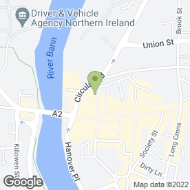 Map of Irwin Donaghey Stockman LLP in Coleraine, county londonderry