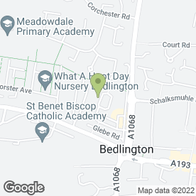 Map of Aerial Vision in Bedlington, northumberland