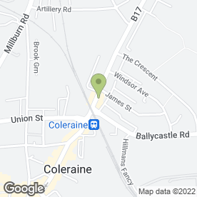 Map of Coastalbus in Coleraine, county londonderry