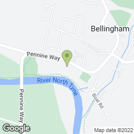 Map of The Bellingham Practice in Bellingham, Hexham, northumberland