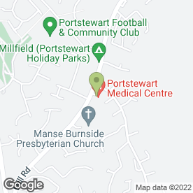 Map of Portstewart Medical Centre in Portstewart, county londonderry