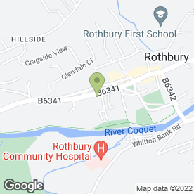 Map of Rothbury Bakery Shop in Rothbury, Morpeth, northumberland