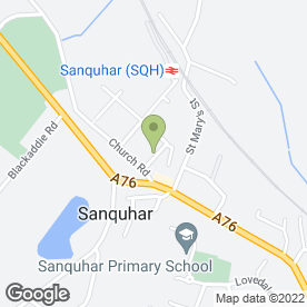 Map of Townhead Garage in Sanquhar, dumfriesshire