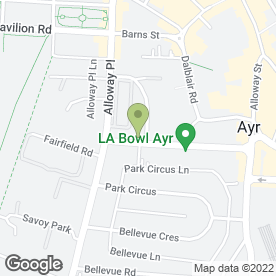 Map of Miller House in Ayr, ayrshire