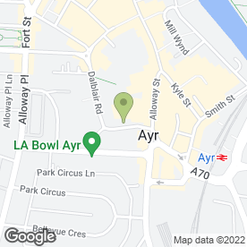 Map of Dalblair Veterinary Surgery in Ayr, ayrshire
