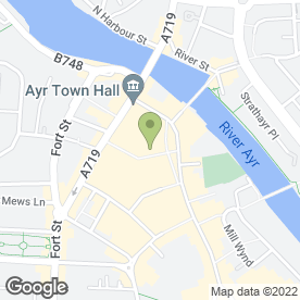 Map of The Salon in Ayr, ayrshire