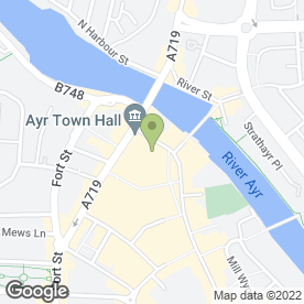 Map of Angels Hair, Nail & Beauty Salon in Ayr, ayrshire