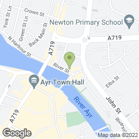 Map of Allan Legget Installations in Ayr, ayrshire