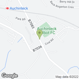 Map of P M Carpet Fitting in Auchinleck, Cumnock, ayrshire