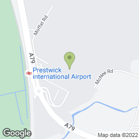 Map of Europcar Van Rental in Glasgow Prestwick Intnl Airport, Prestwick, ayrshire