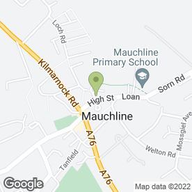 Map of The Ballochmyle Medical Group in Mauchline, ayrshire