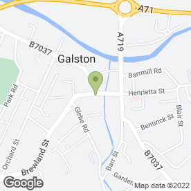 Map of Bank of Scotland in Galston, ayrshire
