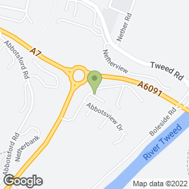 Map of JOHN WALDIE PLUMBING & ROOFING in Galashiels, selkirkshire