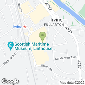 Map of Bensons for Beds in Irvine, ayrshire