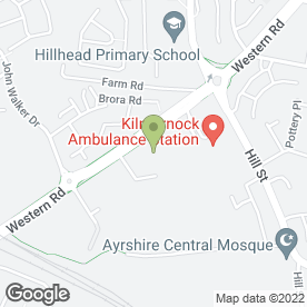 Map of Peugeot - Arnold Clark - Kilmarnock in KILMARNOCK, ayrshire