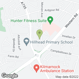 Map of Dog Walking Ayshire in Kilmarnock, ayrshire
