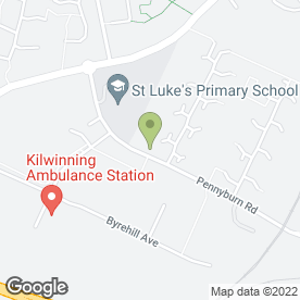 Map of JEP Express Couriers in Kilwinning, ayrshire