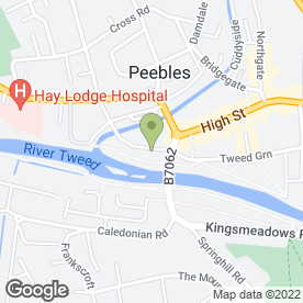 Map of Liz Howieson Beauty Salon in Peebles, peeblesshire