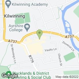 Map of Pets Market in Kilwinning, ayrshire