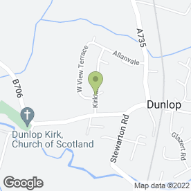 Map of Awire Electrical in Dunlop, Kilmarnock, ayrshire
