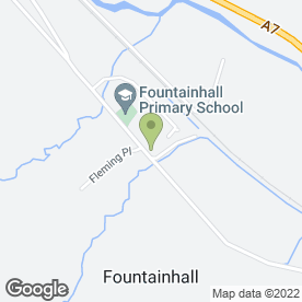 Map of Fountainhall Primary School in Fountainhall, Galashiels, selkirkshire