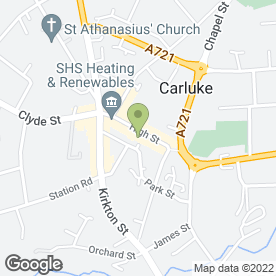 Map of Carluke P.O in Carluke, lanarkshire