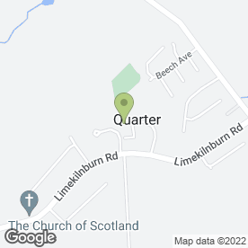Map of R Tennant Plasterer in Quarter, Hamilton, lanarkshire
