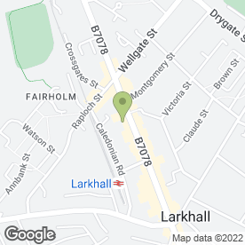 Map of Shirley Paris Jewellery Ltd in Larkhall, lanarkshire