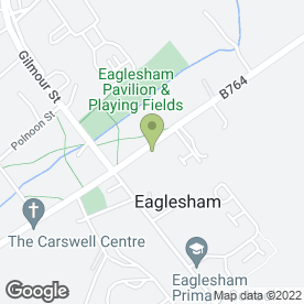 Map of Eaglesham Bowling Club in Eaglesham, Glasgow, lanarkshire