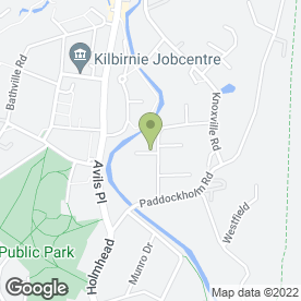 Map of Girard in Kilbirnie, ayrshire