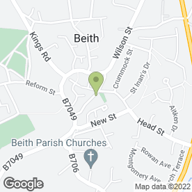 Map of Beith Domestics in Beith, ayrshire