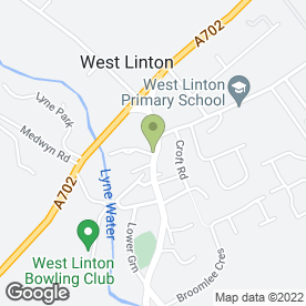 Map of Jefcoate Anderson Architects Ltd in West Linton, peeblesshire