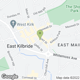 Map of Clydesdale Bank plc in East Kilbride, Glasgow, lanarkshire
