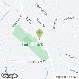 Map of Bed-Rock in Fairhill, Hamilton, lanarkshire