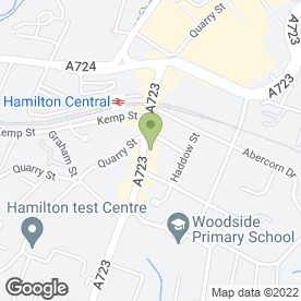 Map of Hamilton Clinical Dental Technicians in Hamilton, lanarkshire