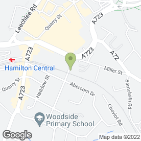 Map of Covey in Hamilton, lanarkshire