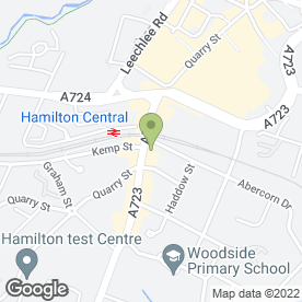 Map of Zanders Jewellers Ltd in Hamilton, lanarkshire