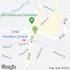 Map of B2B Hair Salon in Hamilton, lanarkshire