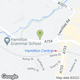 Map of Roxy's Bar in Hamilton, lanarkshire