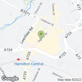 Map of John Graham Electronics in Hamilton, lanarkshire