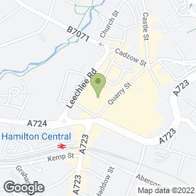 Map of Elspeth Hamilton Perfumery in Hamilton, lanarkshire