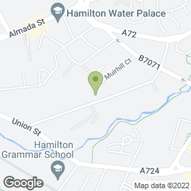 Map of Axis Industrial in Hamilton, lanarkshire