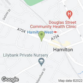 Map of Lornebank Nursing Home in Hamilton, lanarkshire
