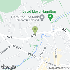 Map of Meridian Recovery in Hamilton, lanarkshire