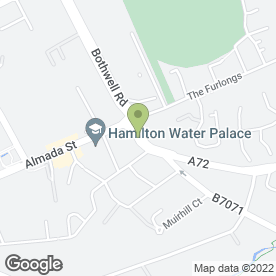 Map of The Tyre Factory in Hamilton
